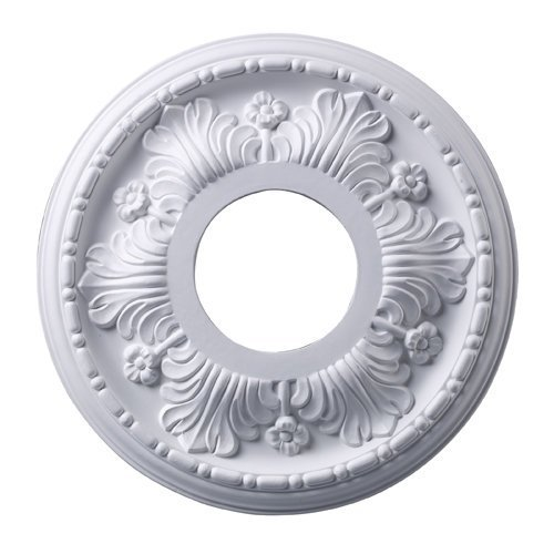 Elk M1000WH Acanthus Ceiling Medallion, 11-Inch, White Finish