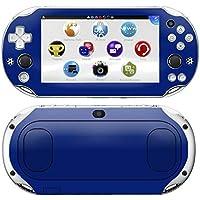 Kit Skin Adesivo Protetor PS VITA Playstation 2000 Slim (Azul Escuro)