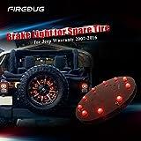 #4: Firebug Jeep 3rd Brake Light LED, Jeep Light Accessories for Spare Tire, Jeep LED Brake Light, Jeep Wrangler JK 2007 - 2016, Red Light
