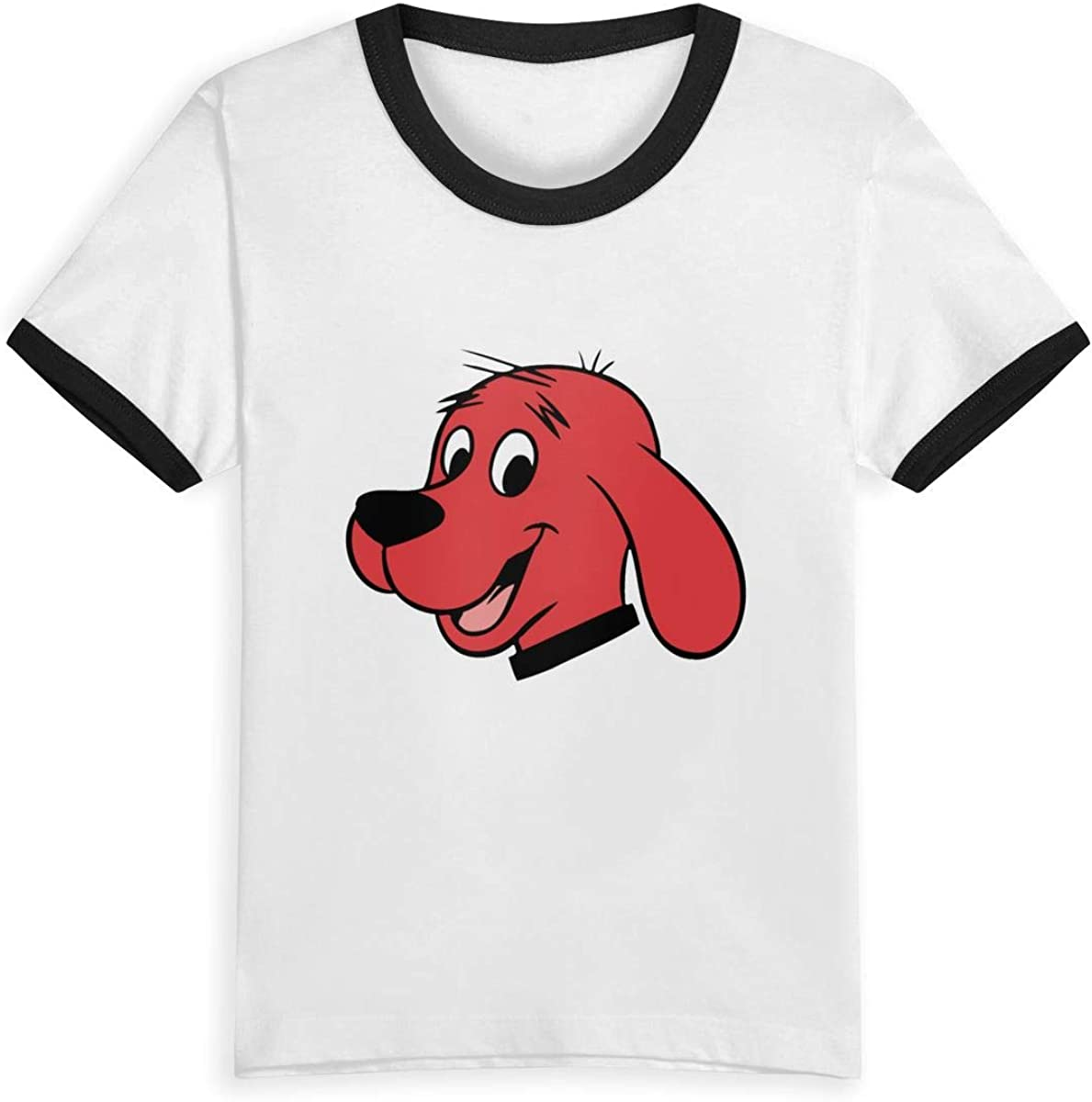 Clifford The Big Red Dog Child Kids Youth Teenagers T Shirt Graphic Crew Neck Tee Shirt Baby