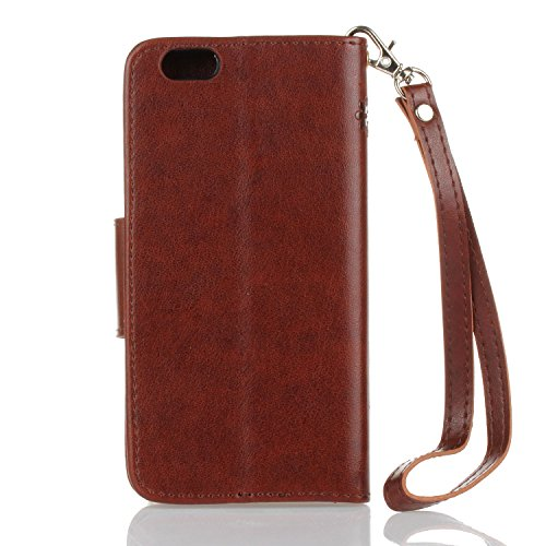 Für Apple iPhone 7 (4.7 Zoll) Tasche ZeWoo® PU Ledertasche Hülle Leder Schutzhülle Case Cover - HX007 /Brown
