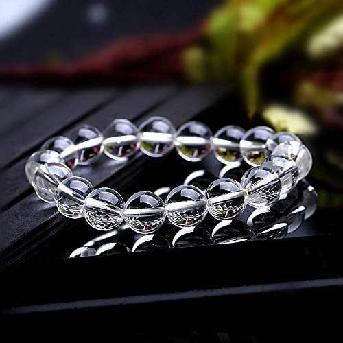 Healing 8mm Beads Gemstone Stretch Bracelet Balance Quartz 7\u201d Bracelet Meditation Green Strawberry Quartz Handmade Bracelet