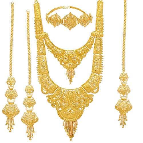 Sukkhi Wedding Jewellery Jewellery Set for Women (Golden) (N83811)