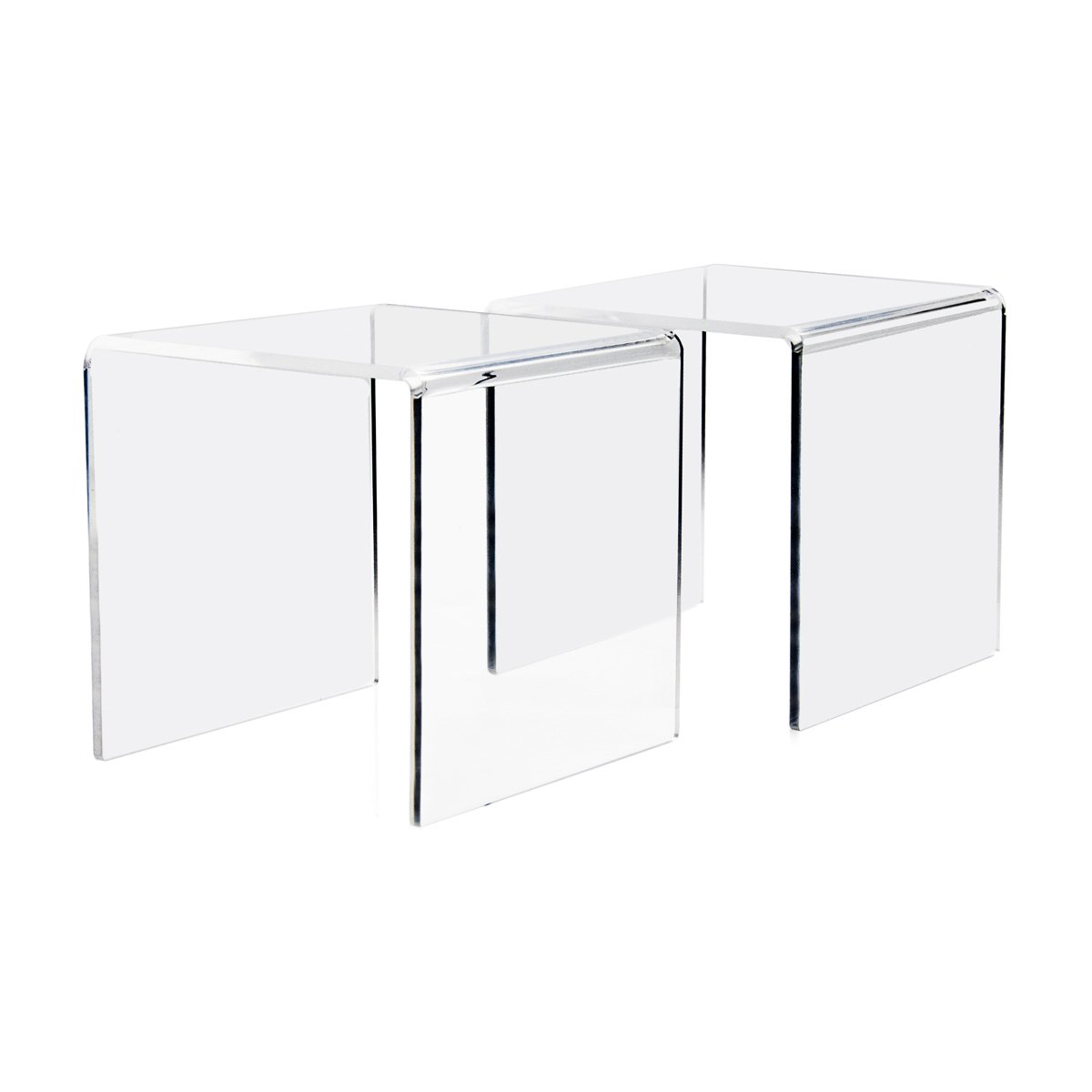 Combination of Life 2-Pack Clear Acrylic Riser Set of 3 (7.6cm,10.1cm,12.7cm)