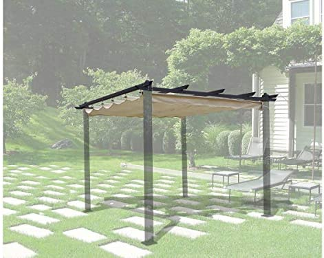 habitatetjardin Tela para la pergola Monica - 3 x 3 m - Beige: Amazon.es: Jardín