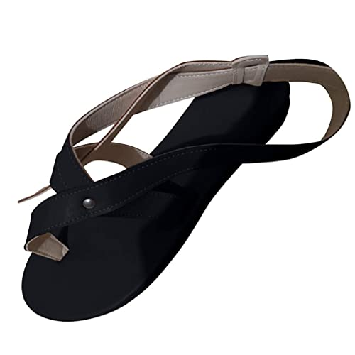 Damen Flach Sandalen Offene Zehen Slip On Gladiator Sandaletten Sommerschuhe