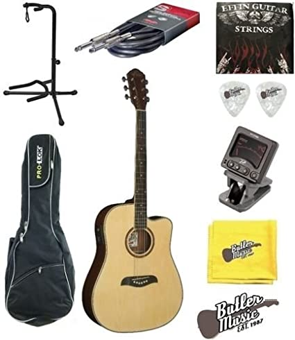 Oscar Schmidt og2ce acústica dreadnought guitarra eléctrica con funda + más: Amazon.es: Instrumentos musicales