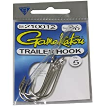 Gamakatsu Spinnerbait Trailer Hook-5 Per Pack (Nickel, 2/0)
