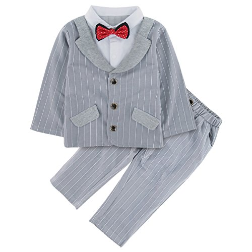 A&J Design Little Boys' Gentleman Formal Suit and Pants Outfit (3T, (Kids Dressing Up Outfits)