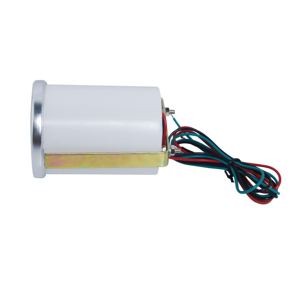 temperatura del agua THG Presi/ón de aceite Volt para coche digital LED Gauge con el logotipo CAR8022T Boost Cubo