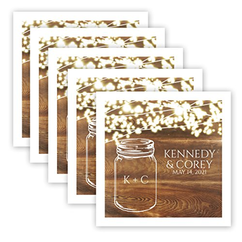 Country Sparkler Personalized Beverage Cocktail Napkins - 100 Custom Printed Paper Napkins by Canopy Street (Image #1)