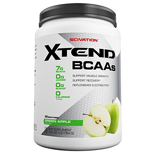 Scivation Xtend BCAA Powder, Branched Chain Amino Acids, BCAAs, Green Apple, 90 Servings