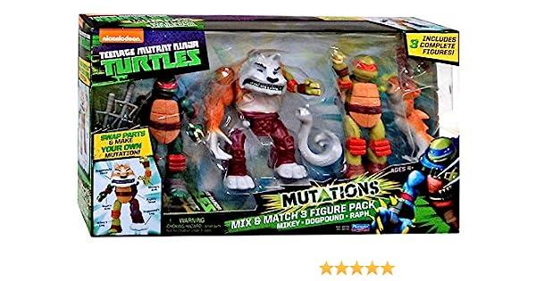 Teenage Mutant Ninja Turtles Nickelodeon Mutations Mikey, Dogpound & Raph 4