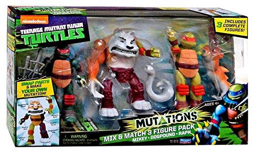 [Teenage Mutant Ninja Turtles Nickelodeon Mutations Mikey, Dogpound & Raph 4