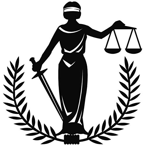 Metal Wall Art Lady Justice Themis-I Design/Unique Gift/Lawyer Office Gift/Law Theme Accessories/Metal Poster/Metal Wall Decor//Metal Accessories ()
