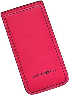 Carte de crédit Organisateur Porte-monnaie avec 20 fentes de cartes, Rose Rouge Blancho Bedding