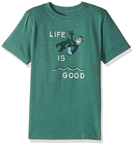 Life is good Boys Tee Cannonball LiG, Heather Forest Green, X-Large