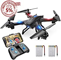 SNAPTAIN WiFi FPV Drone with 720P HD Camera Voice Control RC Quadcopter Altitude Hold Gravity Sensor Compatible w/VR Headset