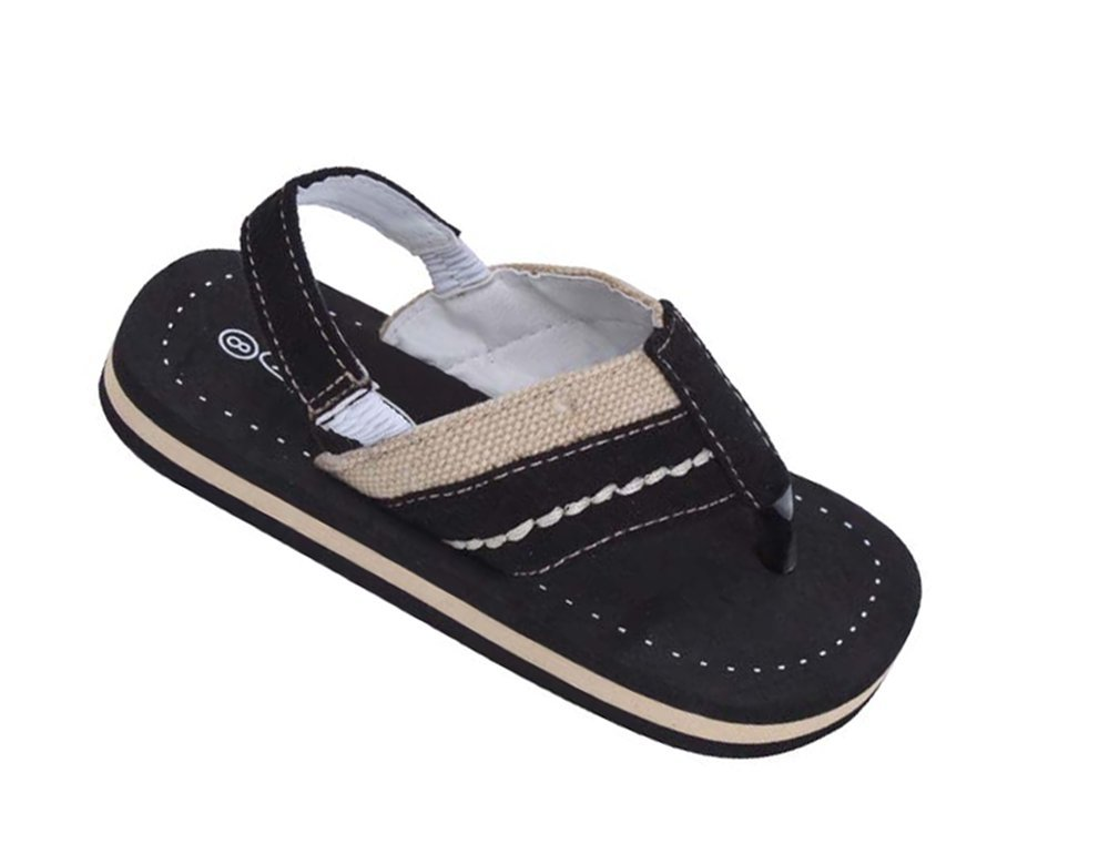 Brand New Toddlers Thong-Style Black Sandals Size 5