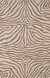 Liora Manne Ravella Zebra Rug, Indoor/Outdoor, 7-Feet 6-Inch by 9-Feet 6-Inch, Brown