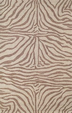 Liora Manne Ravella Zebra Rug, 24-Inch by 8-Feet, Brown - Tufted Zebra Rug