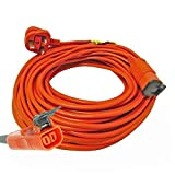 First4Spares 30 Metre Extra Long Mains Power Lead Cable For Flymo Lawnmowers Hedge & Grass Trimmers