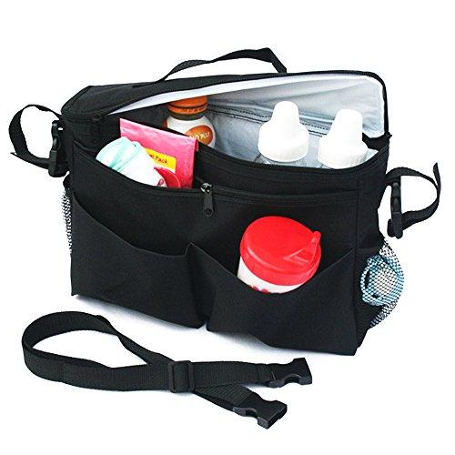Polyester Vinyl Stroller Insulated Waterproof Storage Compartment Organizer Bag