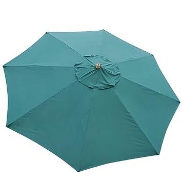 13 Foot Hunter Green Market Patio Umbrella Outdoor Furniture