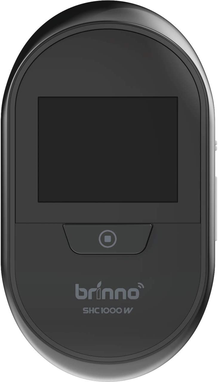 Brinno Duo Front Door Peephole Camera SHC1000W - Smart Home Security System with Mobile and Live Feed - Dual Image Storage with Data Privacy - No Fees, Quick, Easy Installation, Theft-Proof Design