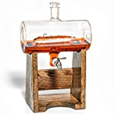 Submarine Decanter -Scotch Whiskey Decanter- Liquor Dispenser for Bourbon, Rum, Wine,etc- Gift for US Navy Submarine Veteran, 1150ml Decanter with Submarine, Gift for Submariner by Prestige Decanters