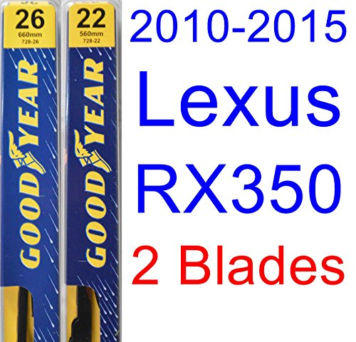 2010-2015 Lexus RX350 Replacement Wiper Blade Set/Kit