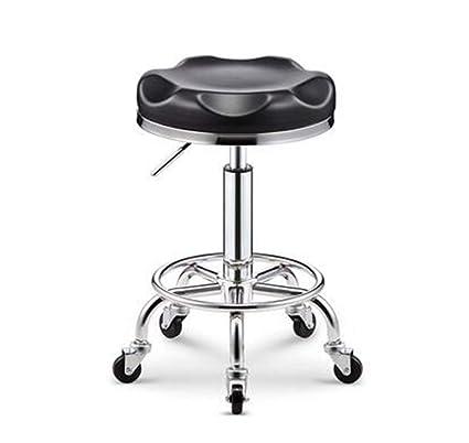 Peluquería silla de trabajo barbero taburete maestro polea de elevación silla giratoria corte peluquería peluquería taburete belleza silla de uñas ...