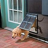 Hundetür Hundeklappe Haustiertüre mit Magnetposition für Katzen, kleine Hunde, mittelgroße Hunde und mittlere / große Hunde