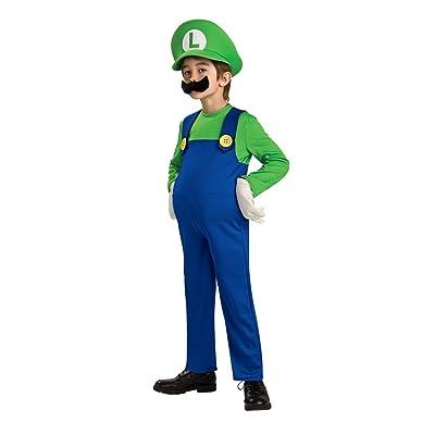 Super Mario Brothers, Deluxe Luigi Costume, Medium: Toys & Games