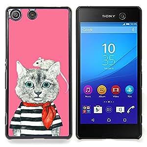 Stuss Case / Funda Carcasa protectora - Marinero Ratón rosado lindo Dibujo - Sony Xperia M5