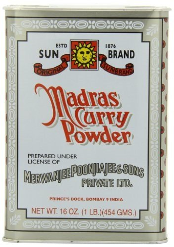 Sun Brand Madras Curry Powder, 1 Pound (Yellow Madras)