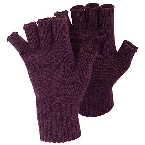 安西踊り子背景(フロソ) FLOSO レディース 指きり手袋 フィンガーカットグローブ 女性用 (ワンサイズ) (紫)