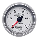 Auto Meter 4961 Ultra-Lite II 2-1/16-Inch 0-15 PSI Full Sweep Electric Fuel Pressure Gauge