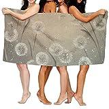 Jaylut 32 Inch51 inch 3D Print Bath Towel Dandelion Dance Leaves Soft High Water Absorption Wrap Washcloths