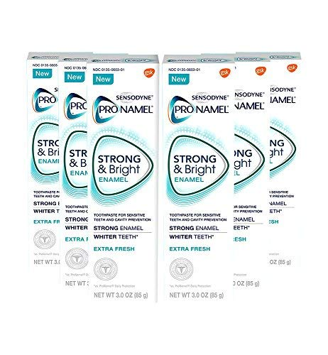 Sensodyne ProNamel Strong & Bright Enamel Toothpaste for Sensitive Teeth Mint - 3 oz, Pack of 6