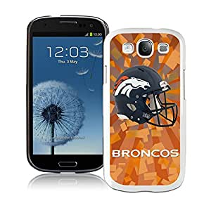 Unique S3 Case,Denver Broncos 07 White Phone Case For Samsung Galaxy S3 Cover Case