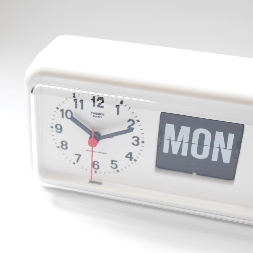 Homeloo x Twemco German Quartz Retro Modern Calendar Wall Flip Clock BQ 38  (Gray)