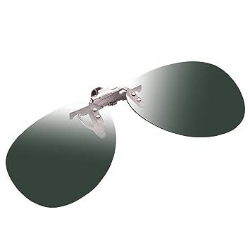 à Clipser Rabattable Gris Lunettes de soleil Verre Polarisé UV400 Conduite Lunettes De Sport S/M/L Avec Étui - Large RViZLkjTc7