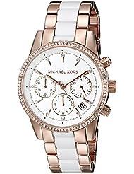 Michael Kors Womens Ritz Rose Gold-Tone Watch MK6324