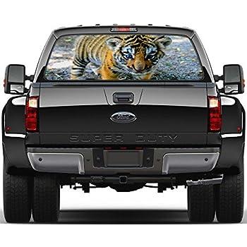 Cat Eyes Rear Window Graphic Decal Sticker Car Truck SUV Van Animals 210