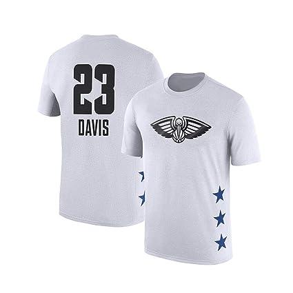WLDSH Baloncesto Manga Corta 2019 Primavera Camiseta de Las Estrellas NBA New Orleans Pelicans Anthony algodón