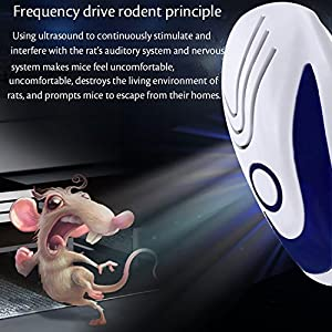 3 Pack Ultrasonic Pest Repellent Electronic Control Bug Repeller Plug in Home Indoor and Outdoor Warehouse Get Rid of Mosquito, rats, squirrel, Flea, Roaches, Rodent, Insect