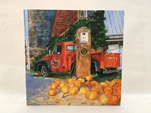 (Russell Orchards Truck Canvas Art)