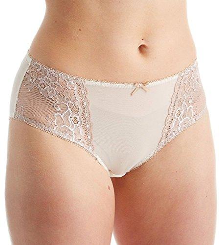 Creme Bralee Celina Micro Lace Panty (15333BL) 3X/Coffee/Cream