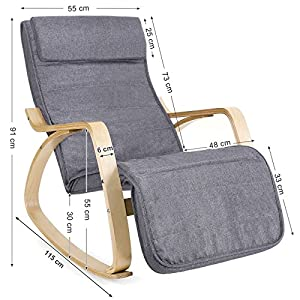 songmics sessel schaukelstuhl schwingstuhl relaxstuhl. Black Bedroom Furniture Sets. Home Design Ideas